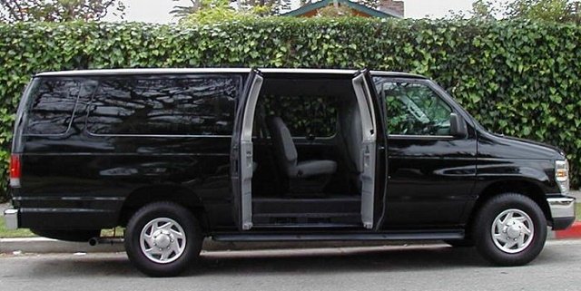 Luxury Ford Van chauffeur services